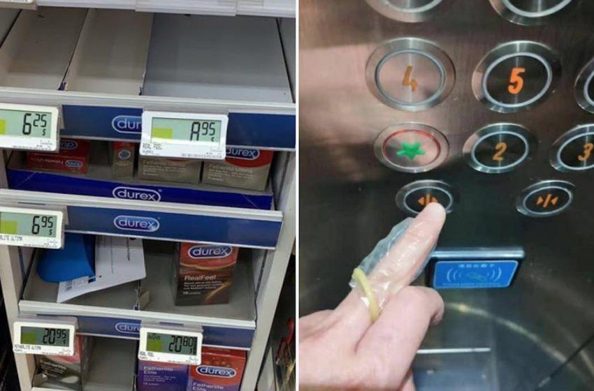 İnsanlar Koronavirüsten Korunmak Amacıyla Parmaklarına Kondom Geçirdiği İçin Kondomlar Yok Satıyor!