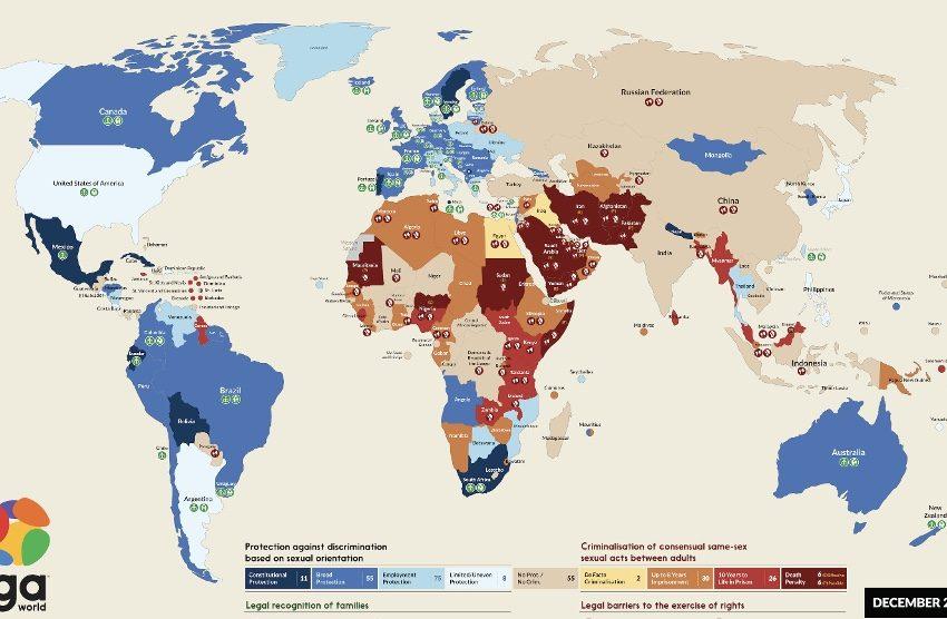 6 Ay Önce Yayınlanan Bir Harita, Hangi Ülkelerde Eşcinselliğin Yasadışı Olduğunu Gösterdi