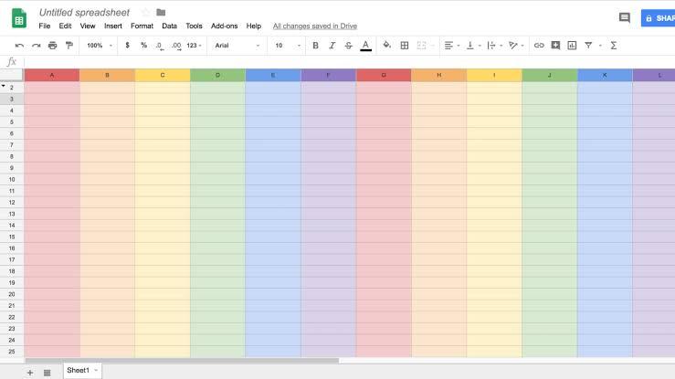 Google, Google Sheets Uygulamasını Pride Ayına Özel Dizayn Etti