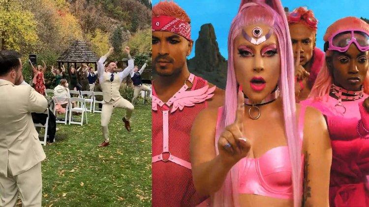 İzleyin: Lady Gaga Çalmaya Başlayınca Düğün Bir Dans Partisine Dönüştü!