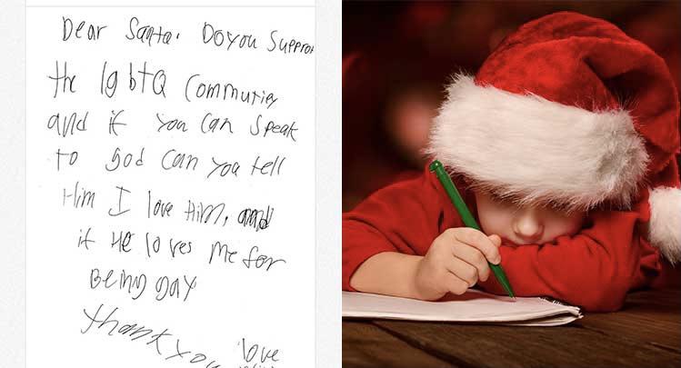 Will Adında Bir Çocuktan Noel Babaya Mektup: Eşcinsel Olduğum İçin Tanrı Beni Sever Mi?