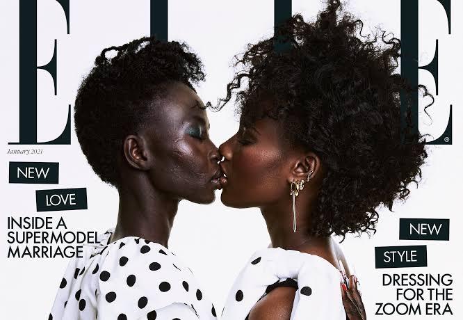 Homofobiyle Mücadele Etmek İçin Elle'nin Kapağında Eşini Öpen Sudanlı Model: Biz Birbirimizi Seçtik