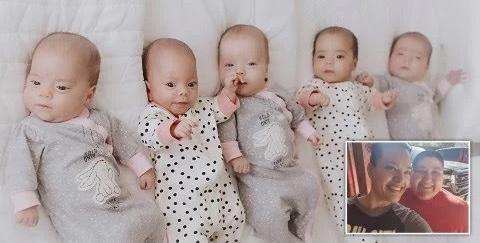 Lezbiyen Çift Beşiz Bebek Sahibi Oldu
