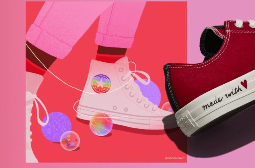 Converse, Yeni Gökkuşaklı Sevgililer Günü Koleksiyonu'yla LGBTİ+ Hakları Diye Haykırıyor